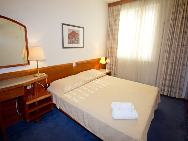Single room park side and halfboard