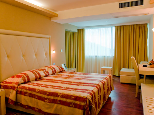 Double room single use park side with balcony and half board