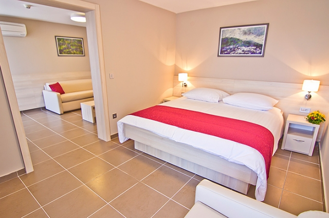 Double room, standard with 3 help beds,suite,with balcony,half board