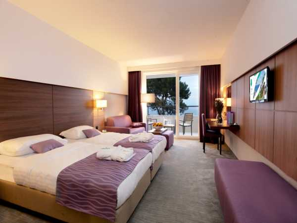 Double room superior with help bed park side with balcony,halfboard
